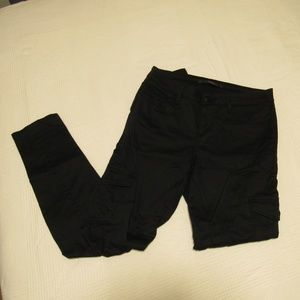 Joe's black slim cargo style pant
